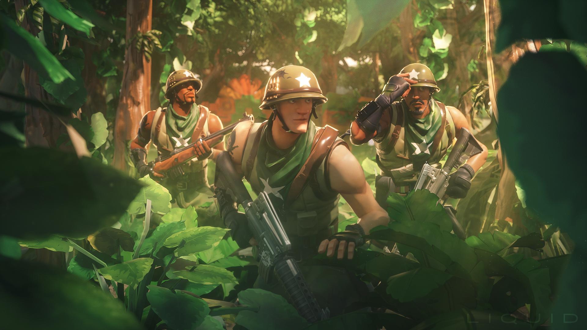 Fortnite Jungle Ops HD Wallpaper | Background Image ...