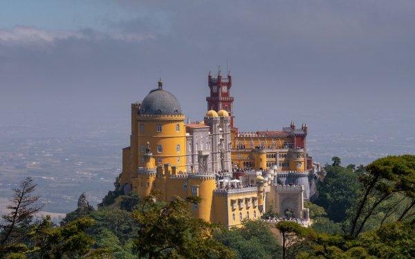 Man Made Pena Palace Palaces Portugal HD Wallpaper | Background Image