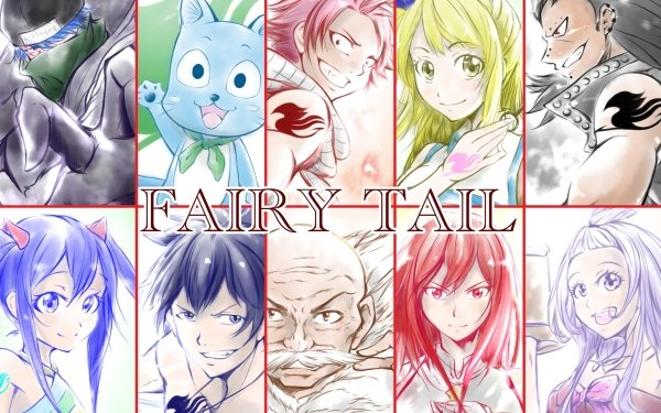 Anime Fairy Tail Jellal Fernandes Happy Natsu Dragneel Lucy Heartfilia Gajeel Redfox Wendy Marvell Gray Fullbuster Makarov Dreyar Erza Scarlet Mirajane Strauss Fond d'écran HD | Image