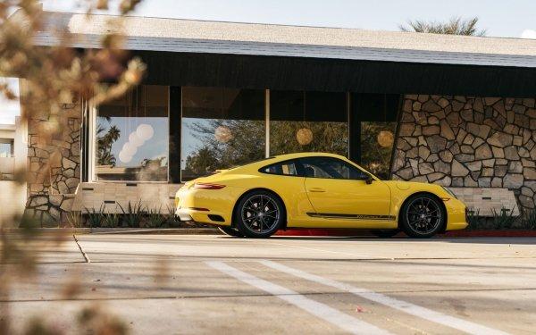 Vehicles Porsche 911 Carrera T Porsche Porsche 911 Porsche 911 Carrera Car Yellow Car Sport Car HD Wallpaper | Background Image