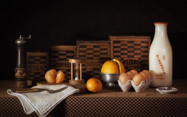 Photography Still Life Egg Grinder orange Milk Flour HD Wallpaper | Background Image