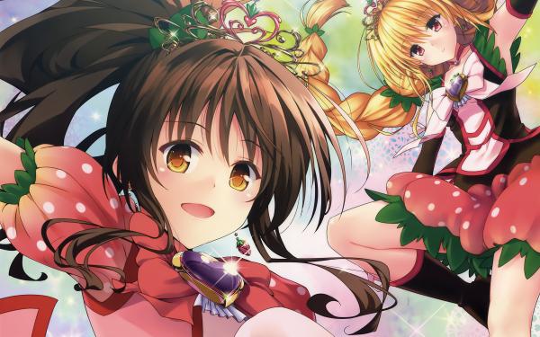 Anime To Love-Ru: Darkness Golden Darkness Mikan Yuuki HD Wallpaper | Background Image