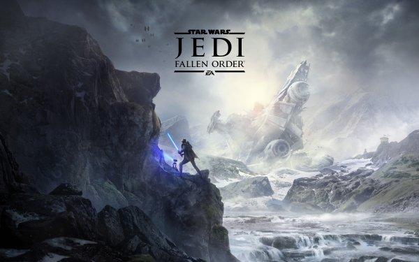 Video Game Star Wars Jedi: Fallen Order Star Wars Lightsaber Star Destroyer Cal Kestis HD Wallpaper   Background Image
