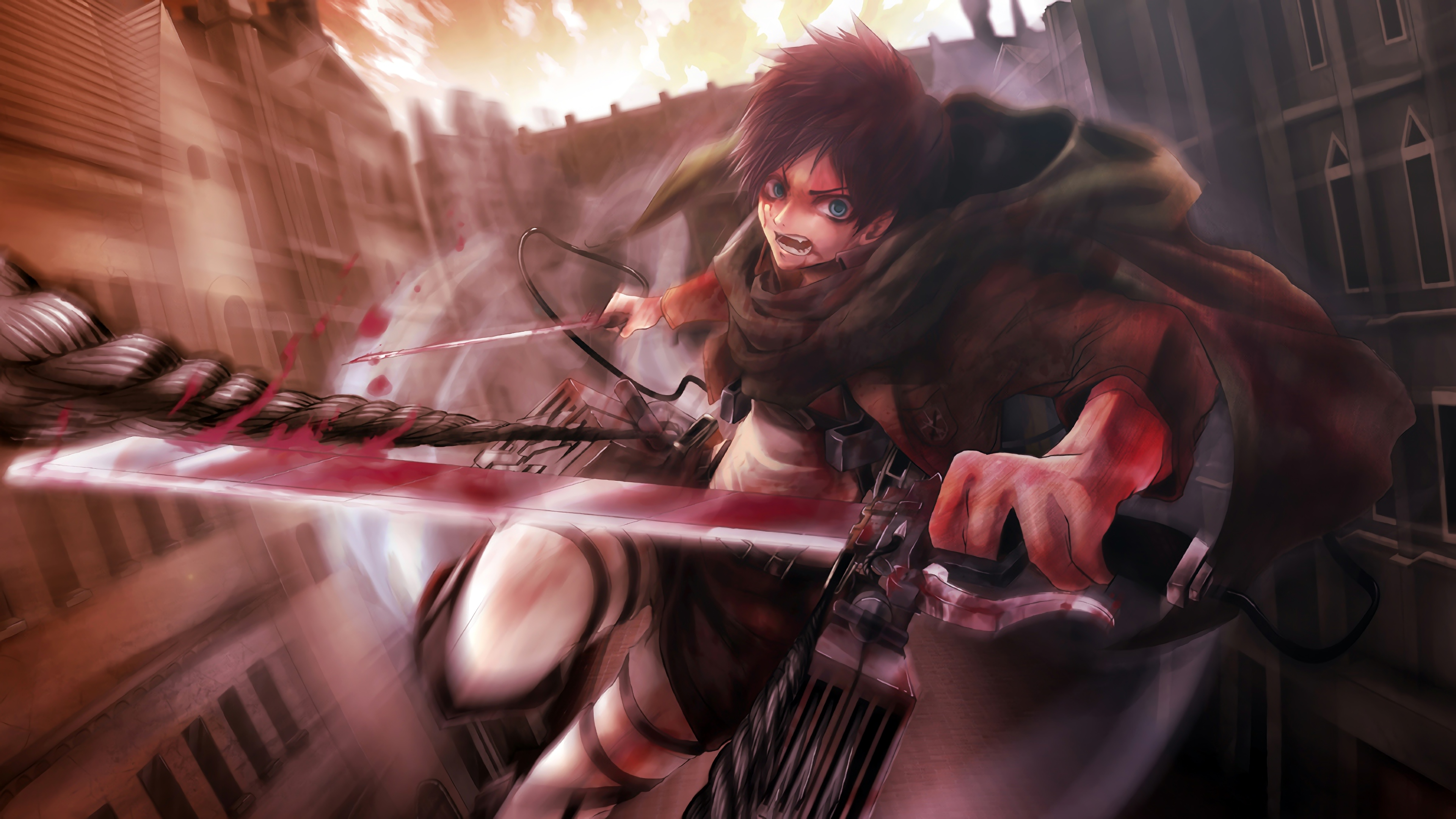 Attack On Titan 4k Ultra Hd Wallpaper Background Image 3840x2160 Id 1015812 Wallpaper Abyss