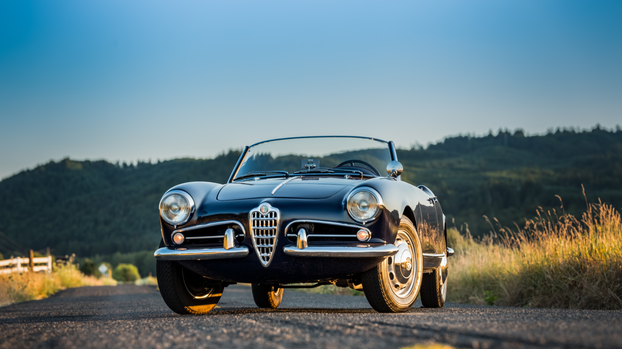 1956 Alfa Romeo Giulietta Spider Papel De Parede Hd Plano De Fundo 2048x1152 Id 1016098 Wallpaper Abyss