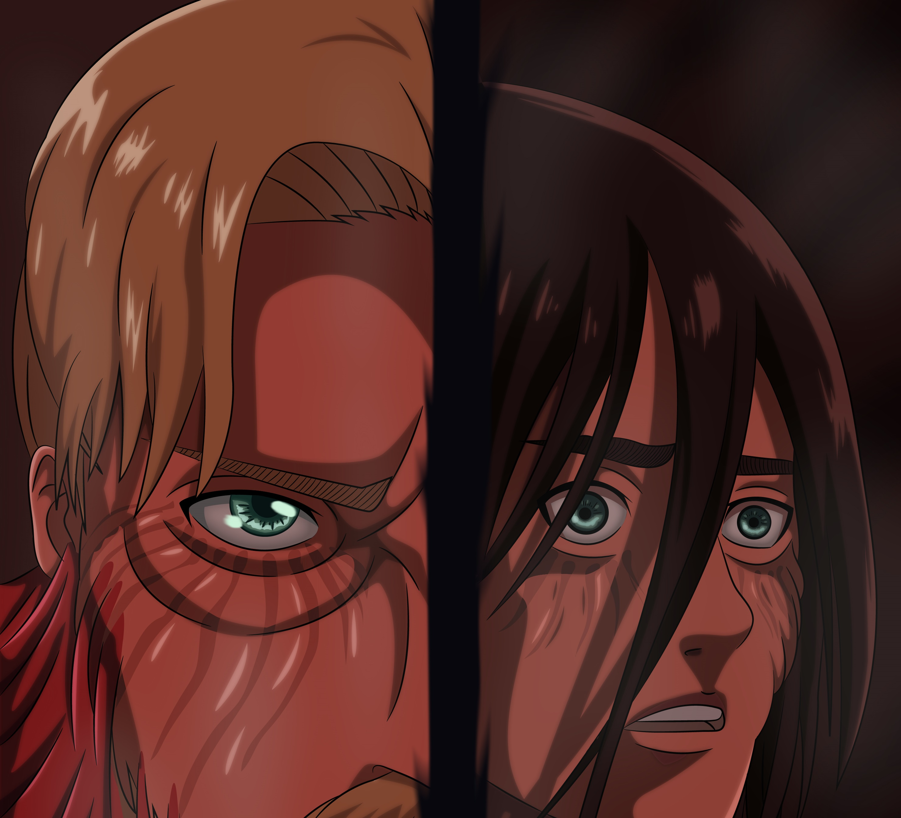 Eren And Zeke Hd Wallpaper Background Image 2960x2688 Id 1017228 Wallpaper Abyss