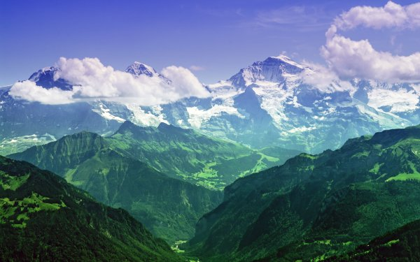 Earth Mountain Mountains Cloud Alps Bernese Alps Switzerland HD Wallpaper | Background Image