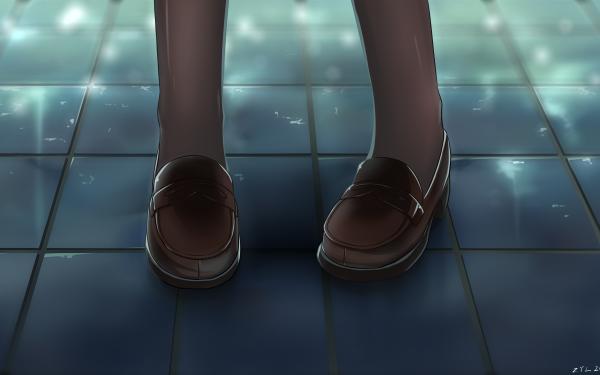 Anime Original Shoe Floor HD Wallpaper   Background Image
