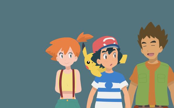 Anime Pokémon Pikachu Ash Ketchum Brock Misty Chico Chica Fondo de pantalla HD | Fondo de Escritorio