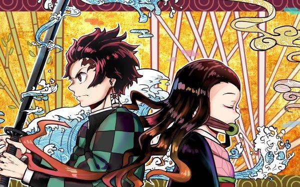 Anime Demon Slayer: Kimetsu no Yaiba Tanjiro Kamado Nezuko Kamado HD Wallpaper   Background Image