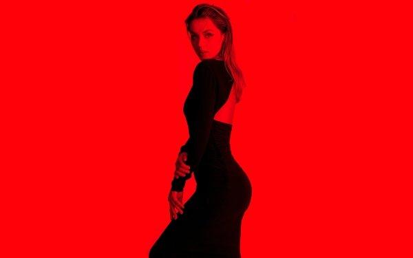 Celebrity Ana de Armas Actresses Red Cuban Actress Dress HD Wallpaper | Background Image