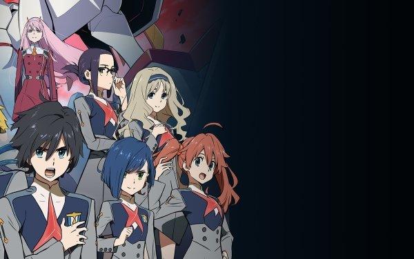 Anime Darling in the FranXX Zero Two Hiro Ichigo Ikuno Kokoro Miku Mitsuru Goro Zorome Futoshi HD Wallpaper | Background Image