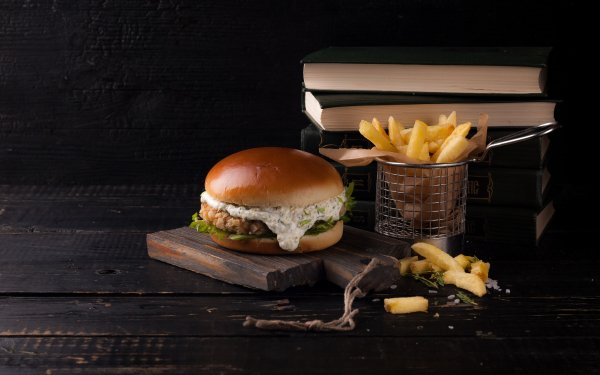 Food Burger Book French Flag Still Life HD Wallpaper | Background Image