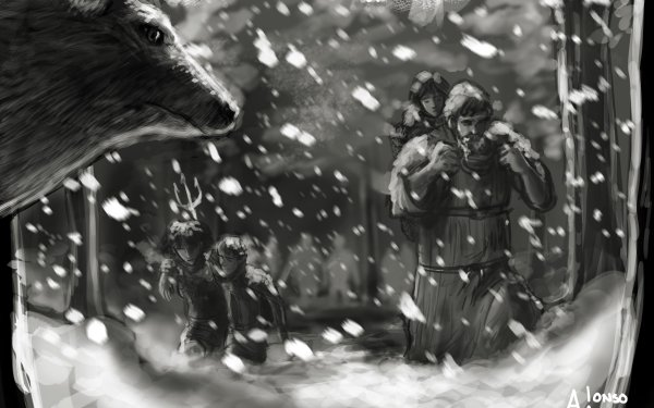 Fantasy A Song Of Ice And Fire Hodor Bran Stark Jojen Reed Meera Reed HD Wallpaper | Background Image