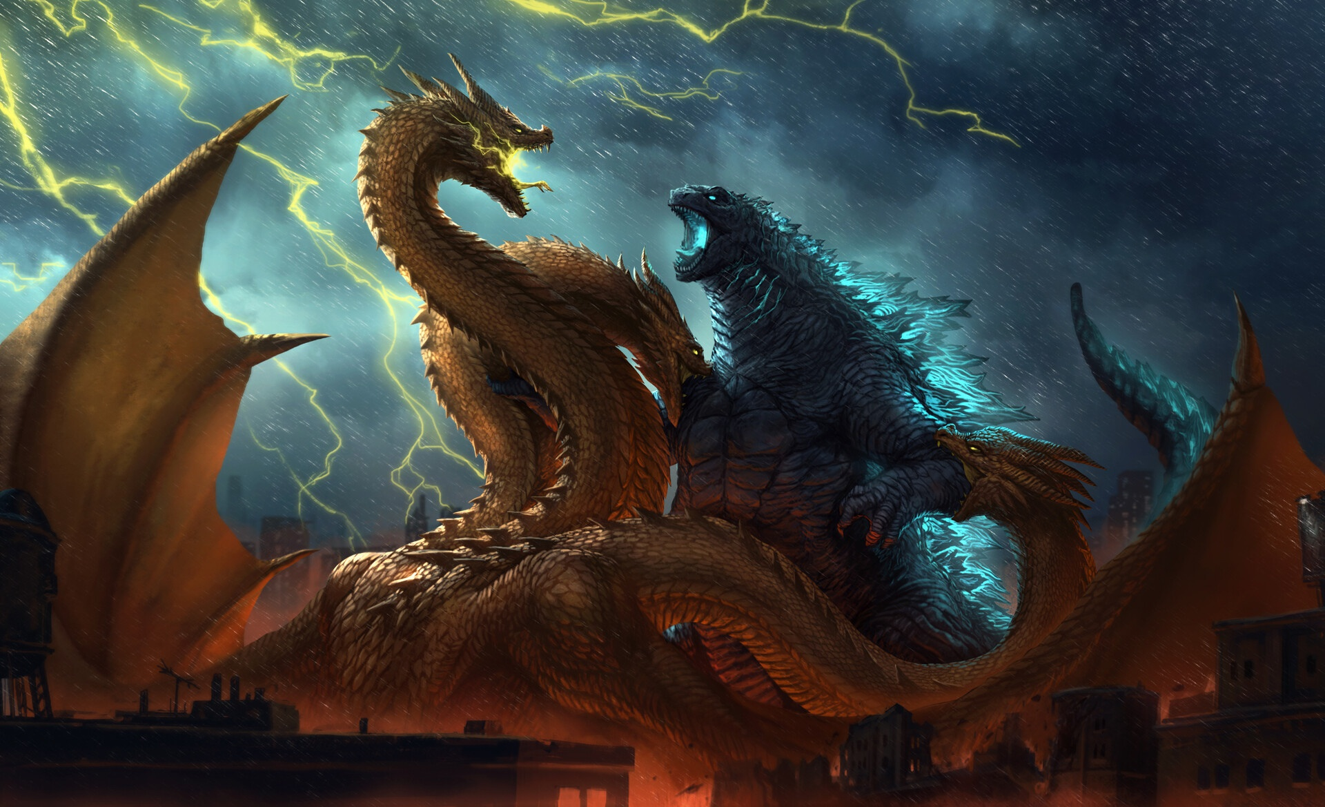Godzilla King Of The Monsters Hd Wallpaper Background Image
