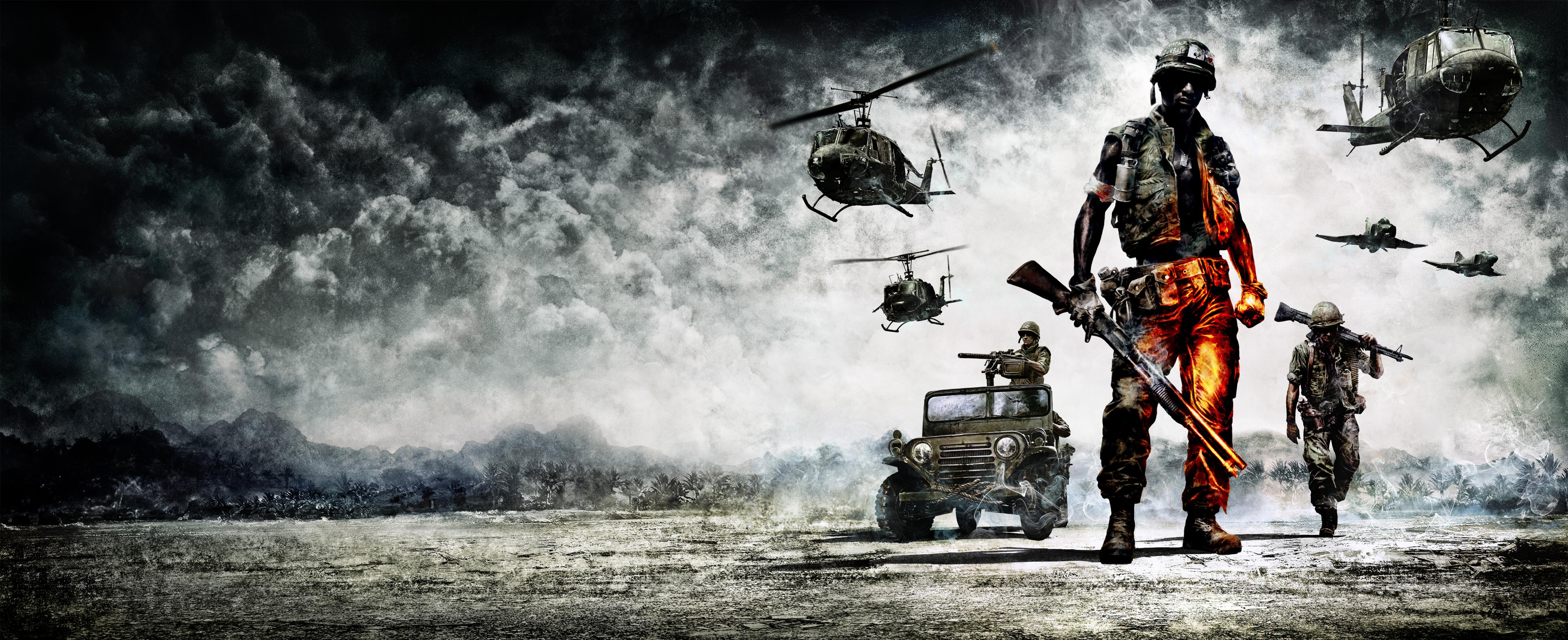 Bad Company 2 Vietnam Key Art 4k Ultra Hd Wallpaper Background