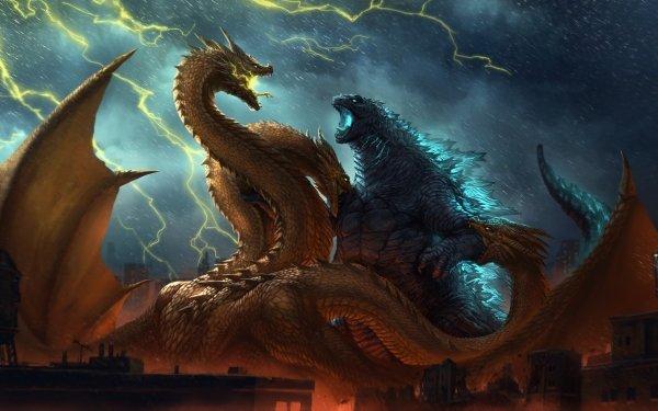 Movie Godzilla: King of the Monsters Godzilla King Ghidorah HD Wallpaper   Background Image