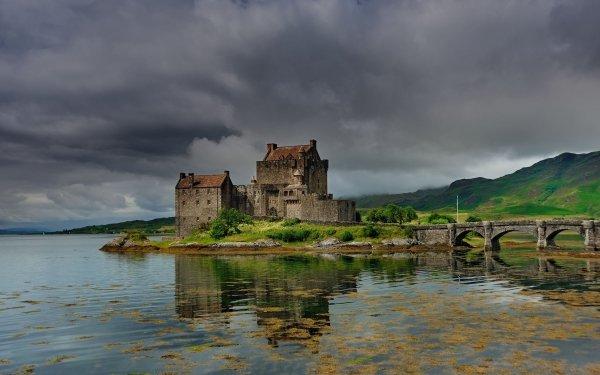 Man Made Eilean Donan Castle Castles United Kingdom Bridge Lake Castle Scotland HD Wallpaper | Background Image