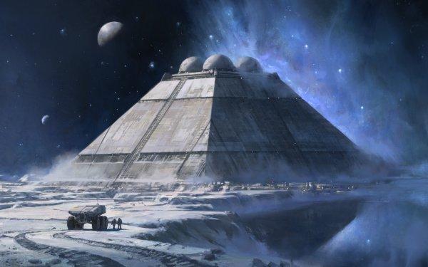 Sci Fi Landscape Space Rover HD Wallpaper   Background Image