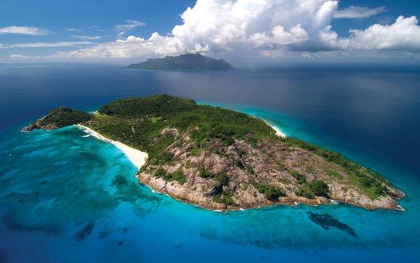 Tierra/Naturaleza Isla Seychelles Océano Fondo de pantalla HD | Fondo de Escritorio