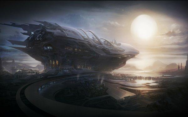 Science Fiction Vaisseau spatial Concept Art Fond d'écran HD   Image