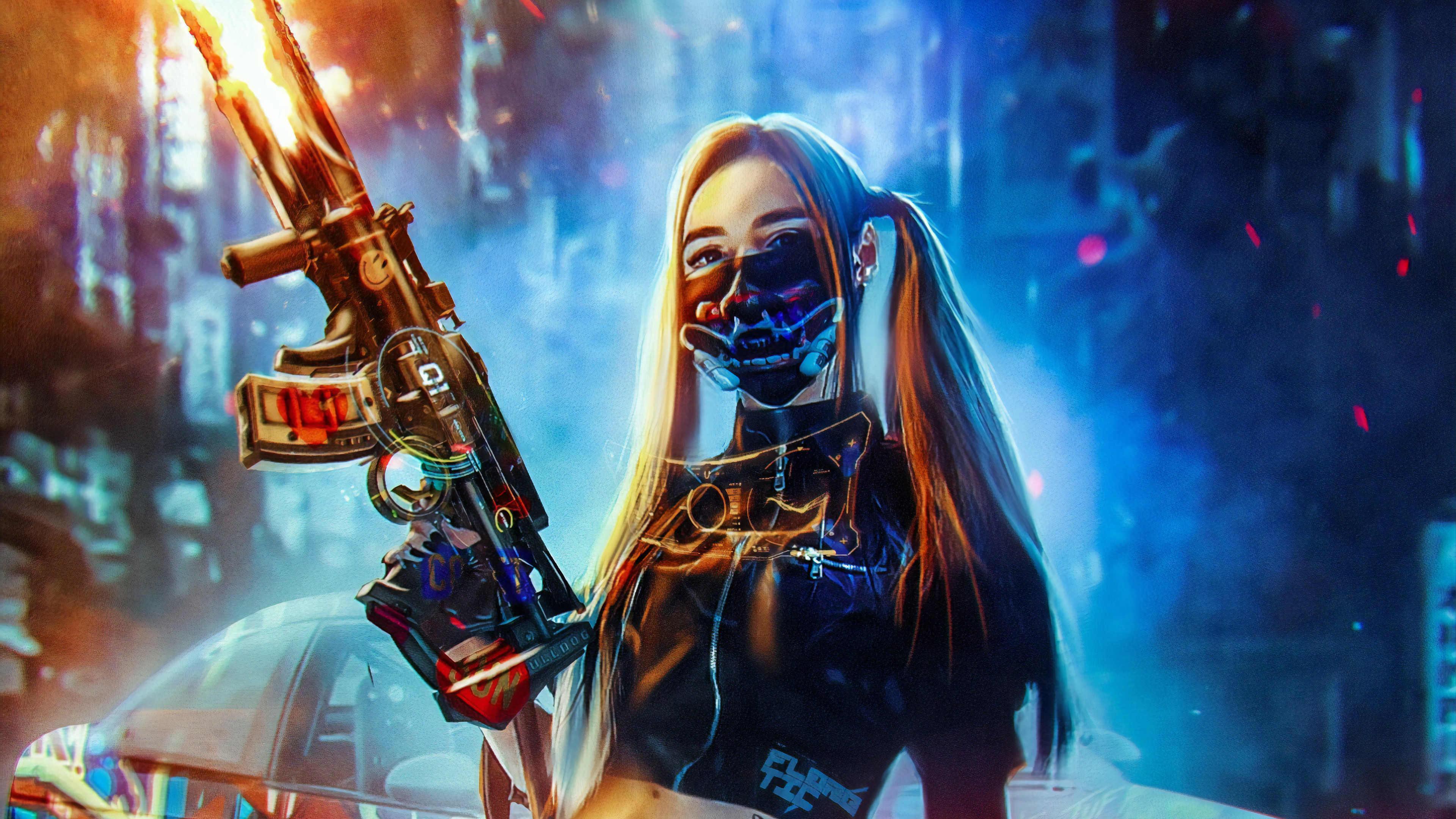 Cyberpunk 4k Ultra Hd Wallpaper Background Image 3840x2160 Id 1033560 Wallpaper Abyss