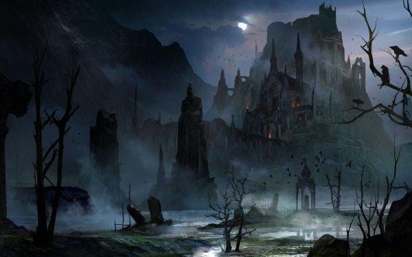 Oscuro Castle Castillos Noche Fondo de pantalla HD | Fondo de Escritorio