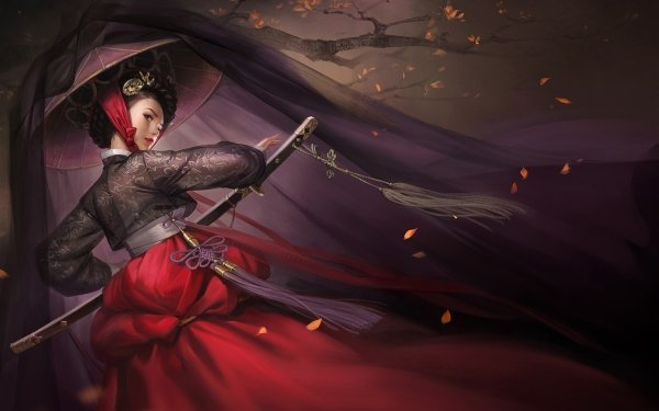 Fantasy Geisha Japanese HD Wallpaper | Background Image