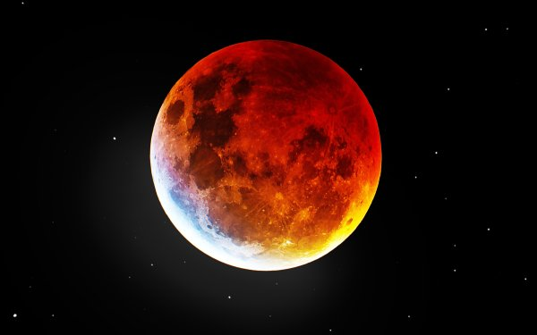 Earth Moon Blood Moon Space HD Wallpaper | Background Image