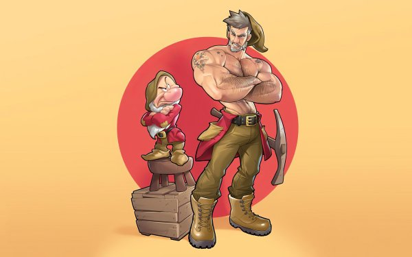 Fantasy Dwarf Angry Muscle HD Wallpaper | Background Image