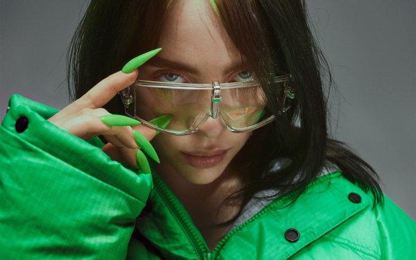 Music Billie Eilish Singers United States American Singer Glasses Nails HD Wallpaper   Background Image