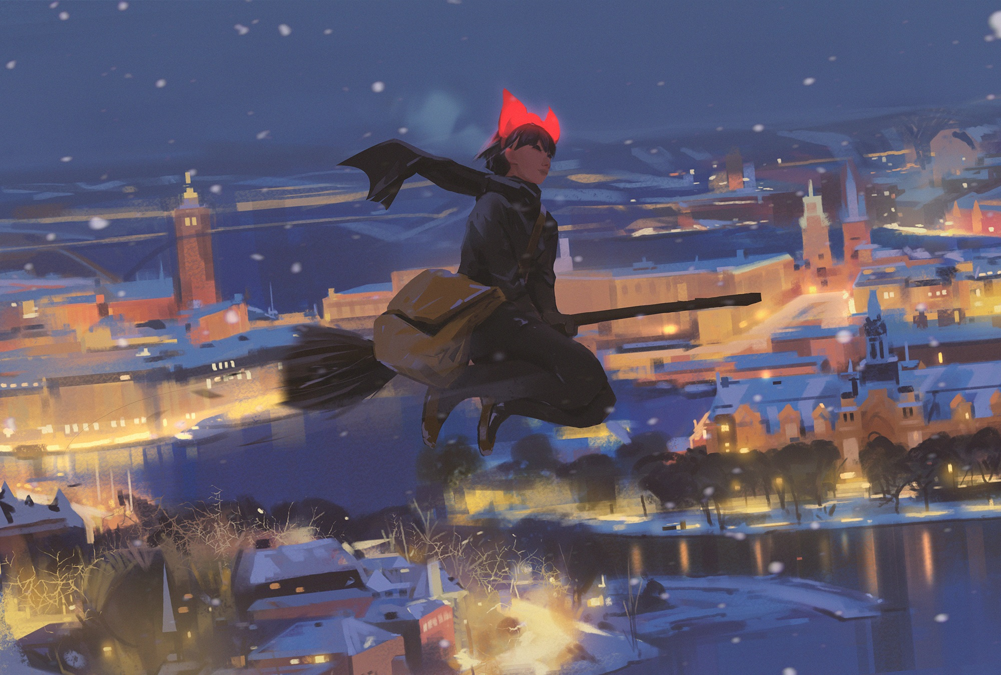 Kiki S Winter Delivery Service Hd Wallpaper Background Image