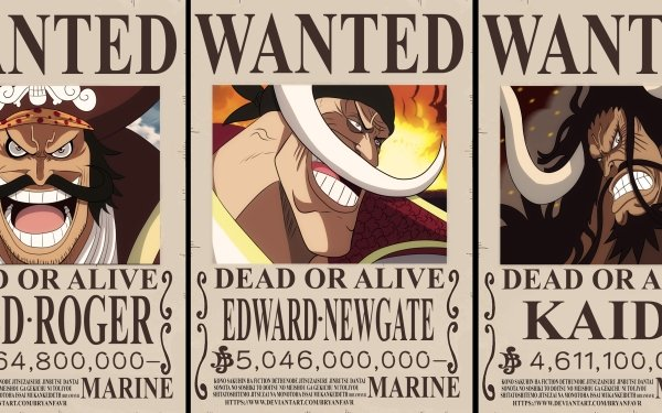 Anime One Piece Gol D. Roger Edward Newgate Kaido HD Wallpaper | Background Image