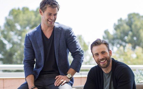Celebrity Actor Chris Hemsworth Chris Evans HD Wallpaper | Background Image