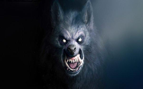 Dark Werewolf Face Scary Snarl HD Wallpaper | Background Image