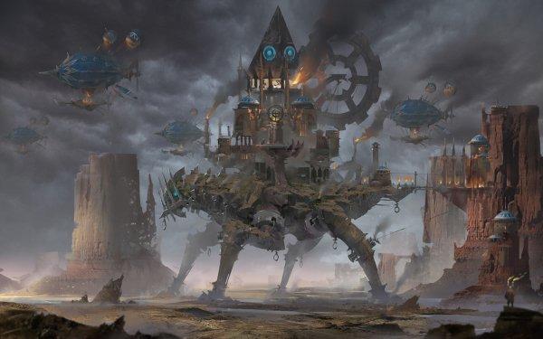 Sci Fi Steampunk Machine HD Wallpaper | Background Image