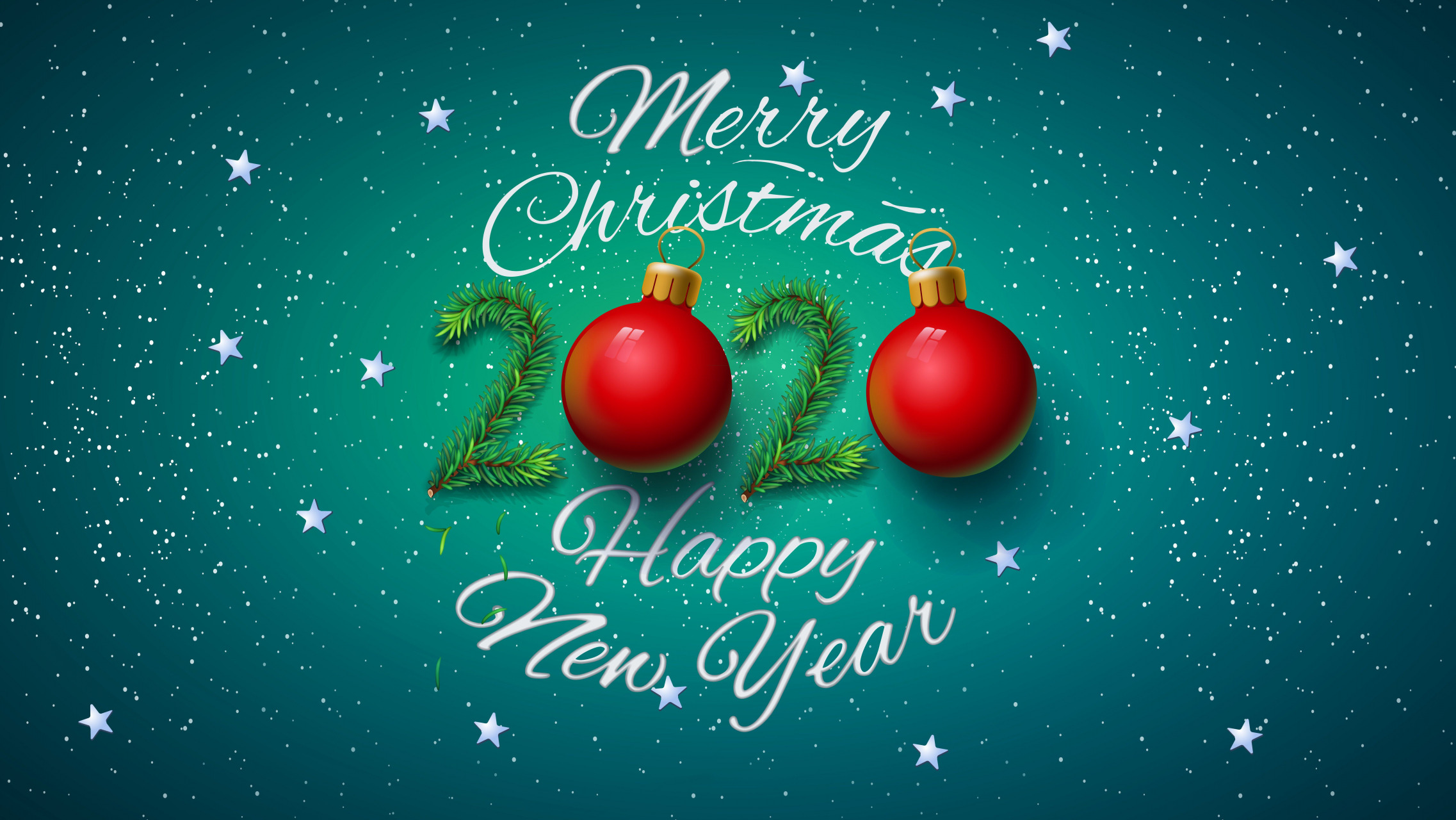 Merry Christmas And Happy New Year Hd Wallpaper Background