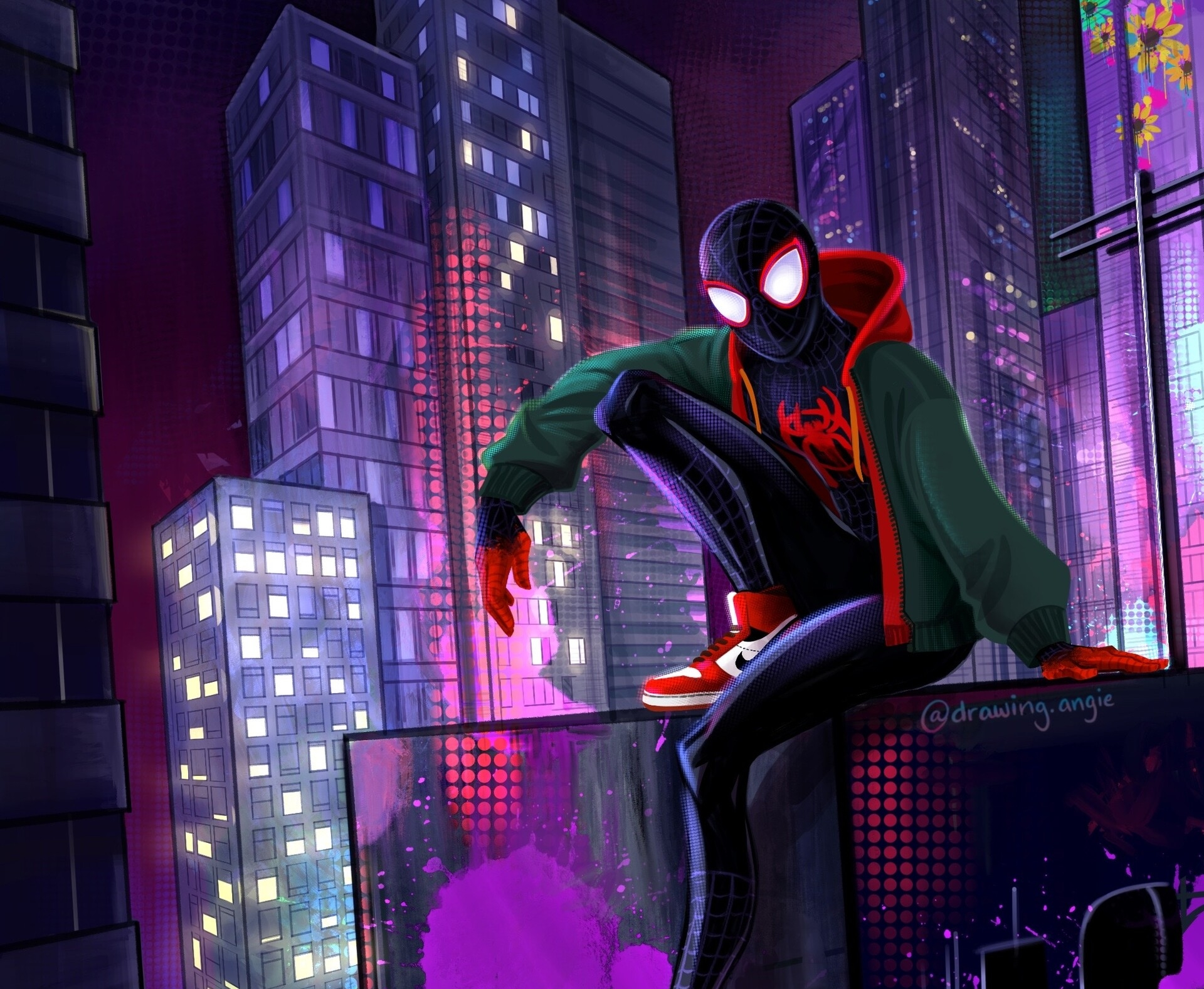 Homem Aranha No Aranhaverso Papel De Parede Hd Plano De Fundo