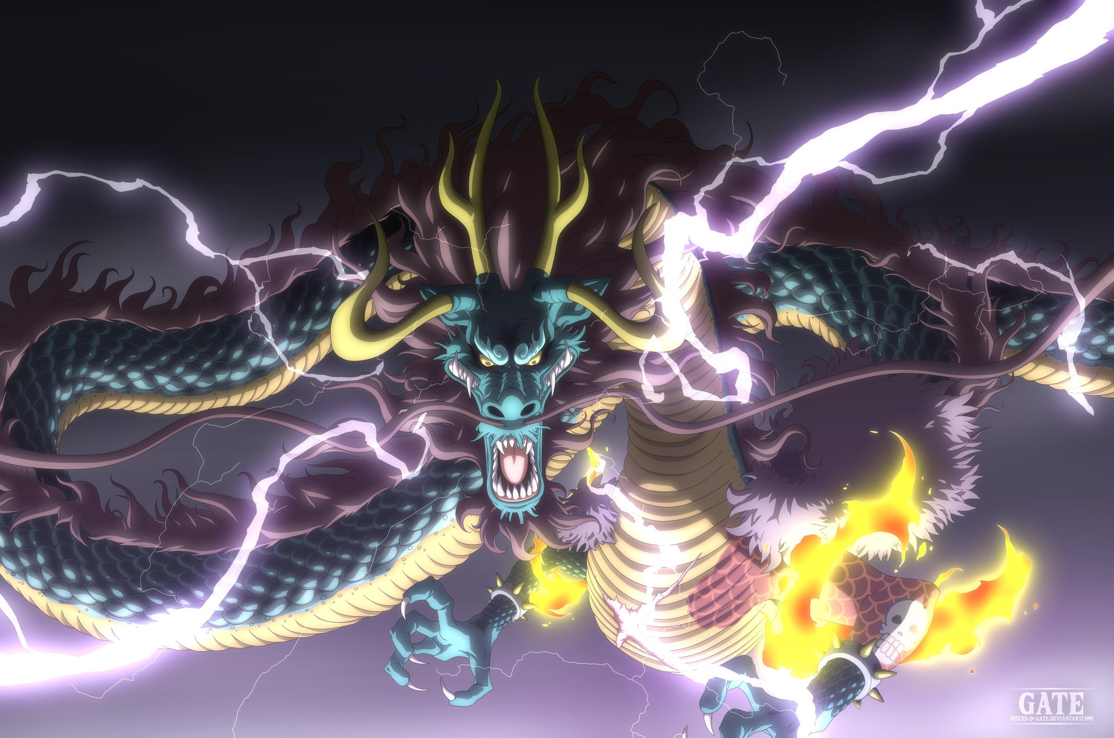 Kaido Dragon Form Fond d'écran HD | Arrière-Plan | 3770x2500 | ID ...
