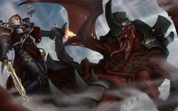 Video Game Warhammer 40K Warhammer Sword Sister of Battle Adeptus Sororitas Woman Warrior HD Wallpaper | Background Image