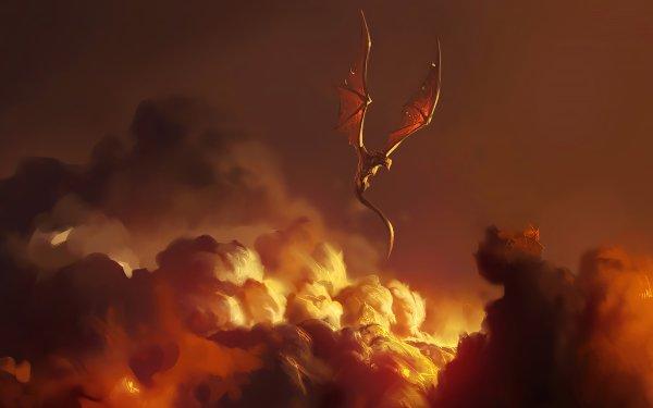 Fantasy Dragon Cloud HD Wallpaper   Background Image