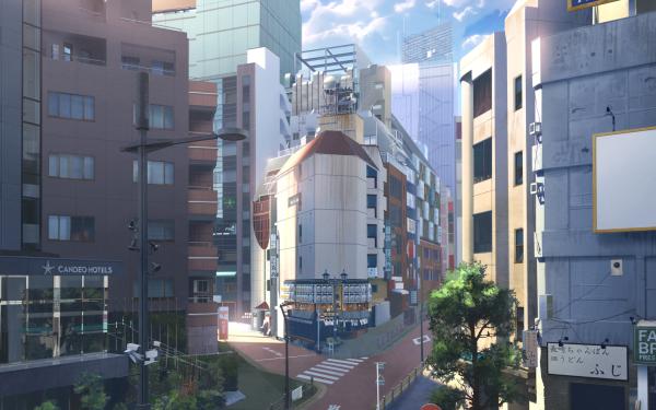 Anime Original Building City Urban HD Wallpaper | Background Image