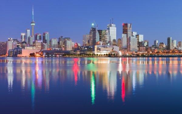 Door de mens gemaakt Toronto Steden Canada Licht Reflectie Stad Gebouw Wolkenkrabber HD Wallpaper | Achtergrond