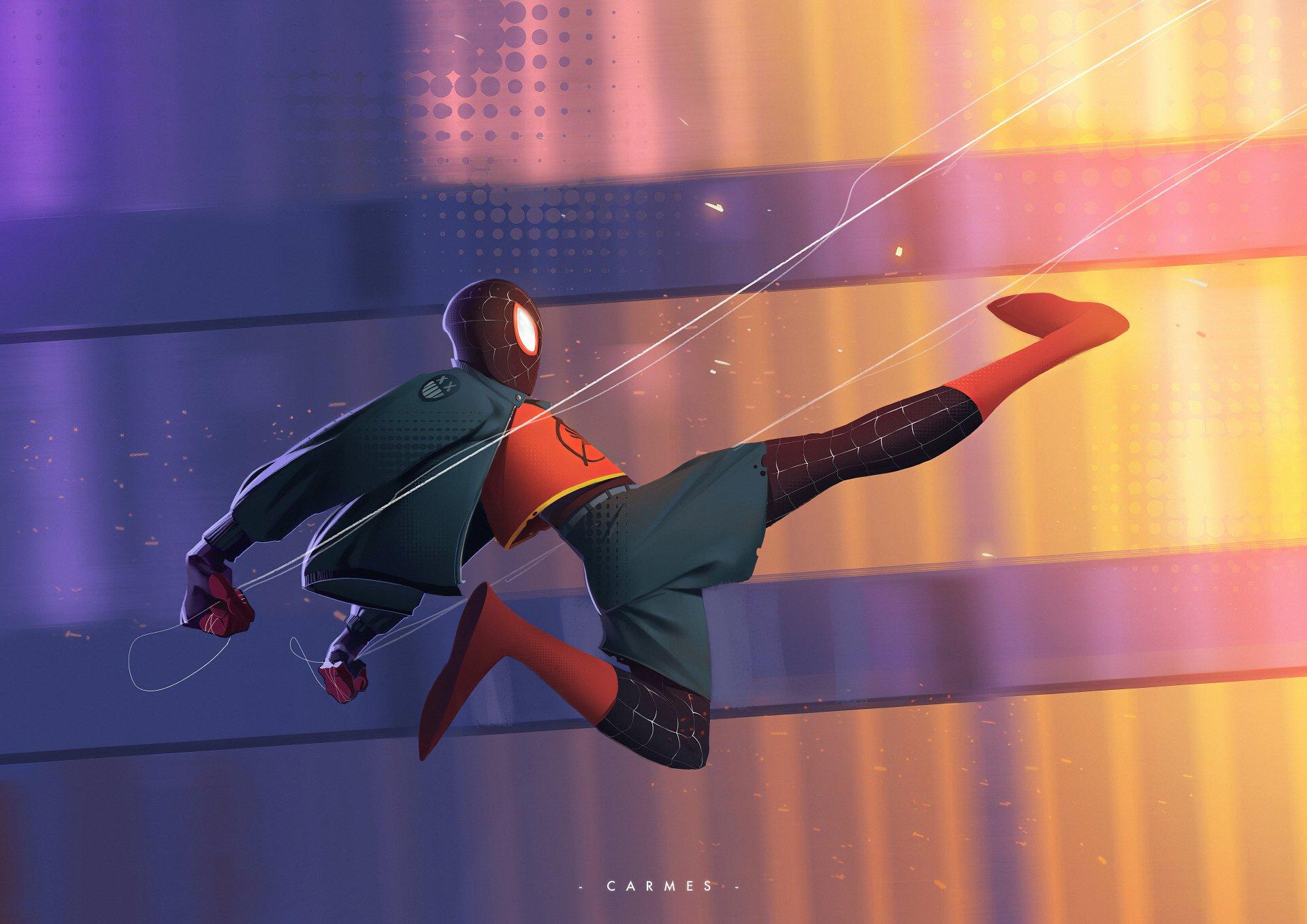 Homem Aranha No Aranhaverso 4k Ultra Papel De Parede Hd