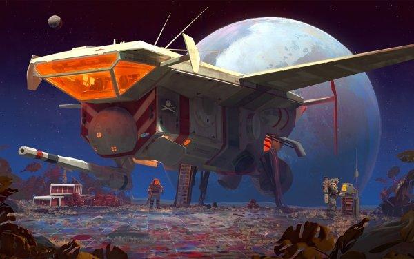 Sci Fi Spaceship Astronaut Exploration HD Wallpaper | Background Image