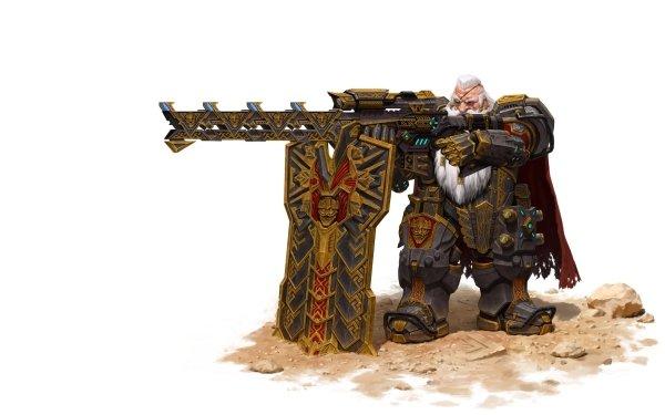Fantasy Dwarf Weapon Warrior HD Wallpaper | Background Image