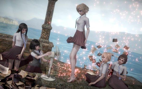 Anime Maidens of the Savage Season Rika Sonezaki Hitoha Hongō Niina Sugawara Momoko Sudō Kazusa Onodera HD Wallpaper | Background Image