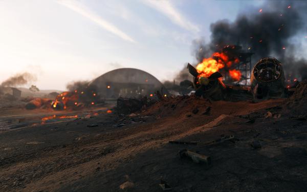 Video Game Battlefield V Battlefield Hangar Airplane HD Wallpaper | Background Image