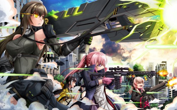 Video Game Girls Frontline M4 Sopmod II M4A1 ST AR-15 RO635 HD Wallpaper | Background Image