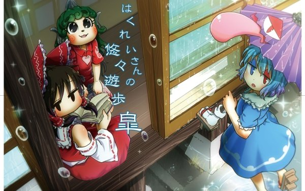 Anime Touhou Aunn Komano Kogasa Tatara Reimu Hakurei Heterochromia HD Wallpaper   Background Image